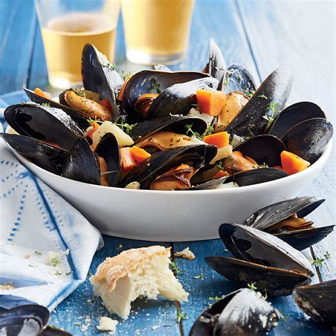 Steamed Mussels With Root Vegetables Recipe Myrecipes