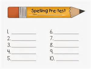 Classroom Freebies Too: Spelling Pretest and Test Papers