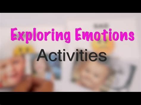 exploring emotions activities