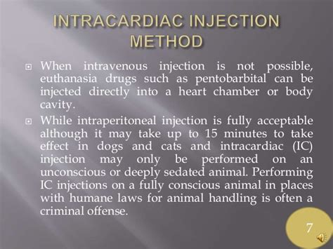 euthanasia injection