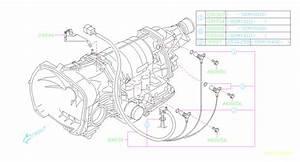 2002 Subaru Wrx Stay Transmission Harness  Shift  Control