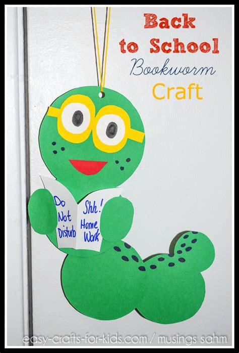 back to school bookworm craft living well 884 | Back to School Bookworm Craft1