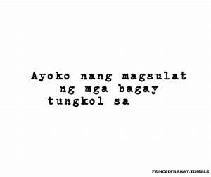 LIFE QUOTES TUMBLR TAGALOG image quotes at hippoquotes.com