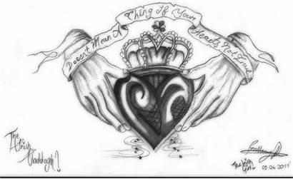Claddagh Irish Tattoo Drawing Drawings Tattoos Designs