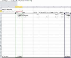 Excel Tabelle Berechnen : rendite in excel technische analyse fundamentalanalyse handelsstrategien wertpapier forum ~ Themetempest.com Abrechnung