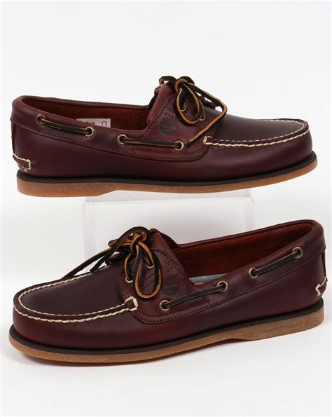 Timberland Classic Boat Shoes by Timberland 2 Eye Classic Boat Shoes Rootbeer Deck Sailing Mens