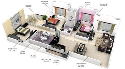 1630 Sq Ft 3 Bhk 3t Apartment For Sale In Goel Ganga