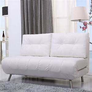 mid century best white leather loveseat sleeper sofa with With fold out sectional sleeper sofa