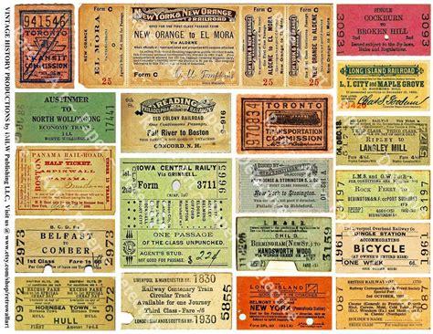 train ticket stubs printed sheet railroad ticket