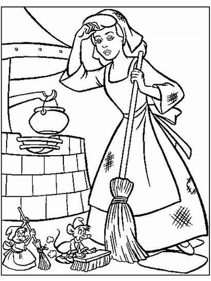 Cinderella Coloring Princess Pages