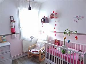 idee deco chambre bebe fille rose et gris visuel 4 With deco chambre bebe fille rose
