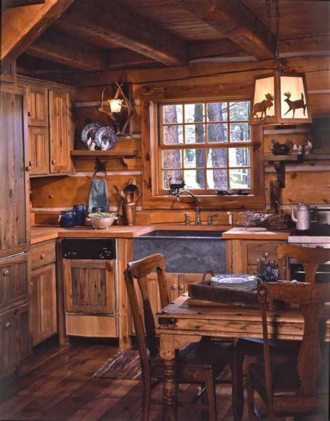 log cabin kitchens s cozy log cabin in montana hooked on houses