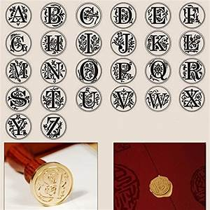 waycom stamp seal sealing wax vintage classic old With antique letter stamps