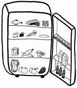 Fridge Clipart Open Refrigerator Clip Cliparts Drawing Freezer Milk Empty Mini Midea Library Getdrawings Paper Clipartix sketch template