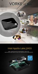 VORKE V1 Plus Intel Apollo Lake J3455 4G RAM 64G SSD MINI PC