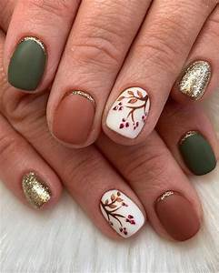 150 fall leaf nail designs to let your hug autumn 2019