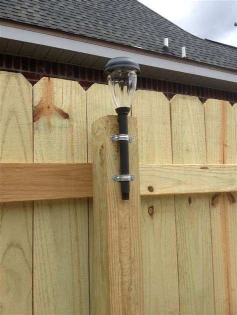 Image result for solar lights on fence posts (With images