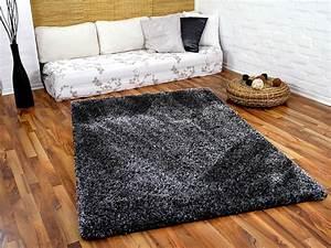 Teppich Langflor Grau : hochflor shaggy teppich luxus feeling mix anthrazit in 24 ~ Lateststills.com Haus und Dekorationen