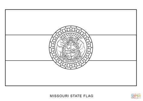 Missouri State Flag Coloring Page Free Printable