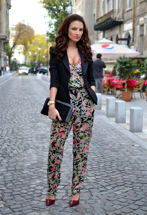 jumpsuit with blazer 13 stunning floral jumpsuit ideas for summer