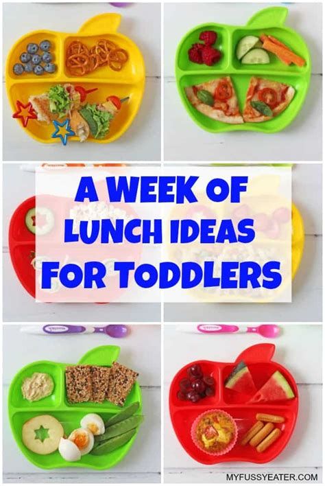 a week of lunch ideas for toddlers my fussy eater easy 882 | Seven Toddler Lunches Munchkin PIN2