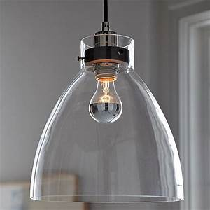 minimalist glass pendant with an industrial design With industrial pendant lighting for kitchen
