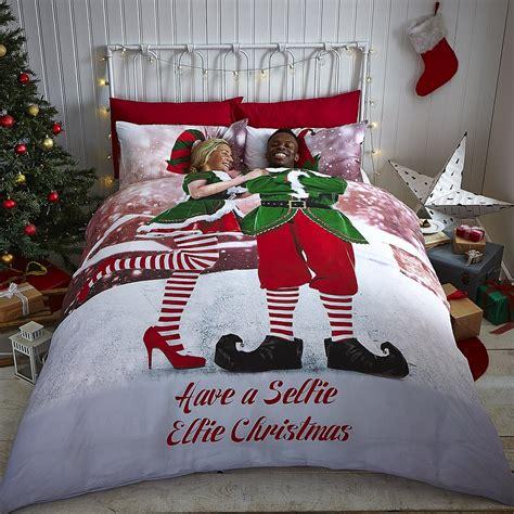 3pc christmas holiday santa snowflake comforter set twin