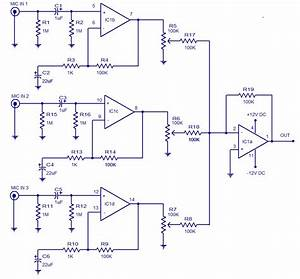 3 Input Microphone Preamplifier Circuit Diagram World