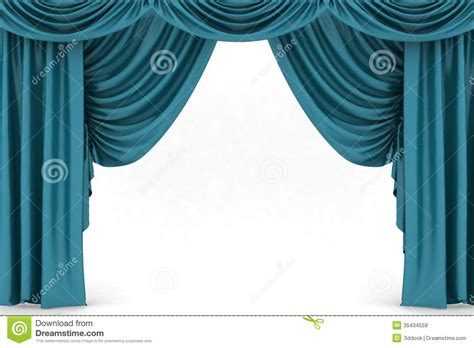 ouvrez le rideau bleu en th 233 226 tre images libres de droits image 35434559