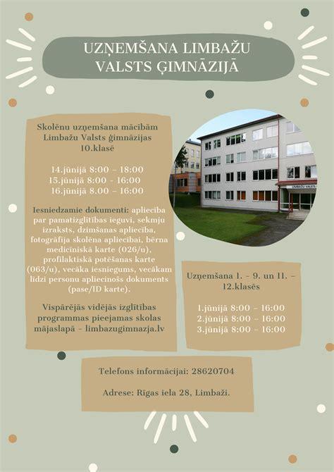 Limbažu Valsts ģimnāzija - Uzņemšana Limbažu Valsts ģimnāzijā