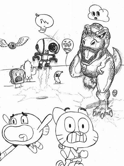 Gumball Amazing Drawing 1st Fan Waniramirez Getdrawings