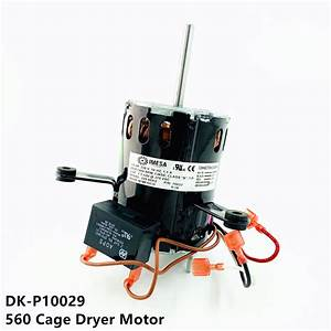 Double K 560 Cage Dryer Motor With Capacitor