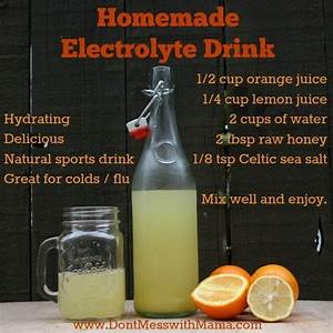 Homemade Citrus Electrolyte Drink