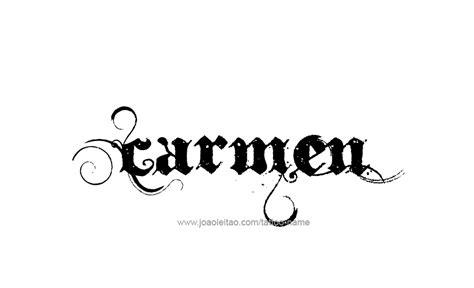 carmen  tattoo designs