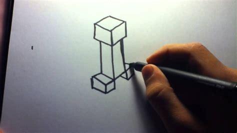 draw minecraft creeper youtube