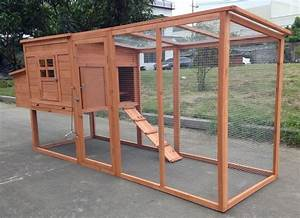 Large 95 U0026quot  Deluxe Solid Wood Hen Chicken Cage House Coop