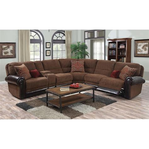 Sectional With Recliners by Auburn Brown 4 Power Reclining Sectional Sofa