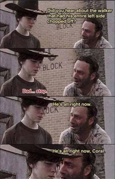 Walking Dead Rick And Carl Meme - 35 of the best walking dead carl meme coral dad jokes