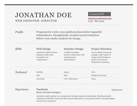 11592 well designed resumes feed reconfine a well designed html resume template