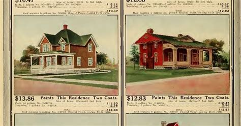 Sunroom Styles by Sample Exterior Paint Colors From 1912 Sears Catalog