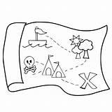 Treasure Map Pirate Drawing Coloring Getdrawings sketch template