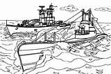Coloring Carrier Aircraft Ship Navy Warship Nimitz Cvn Template Sky Sketch sketch template