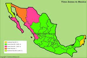 Mexico Time Zone Map