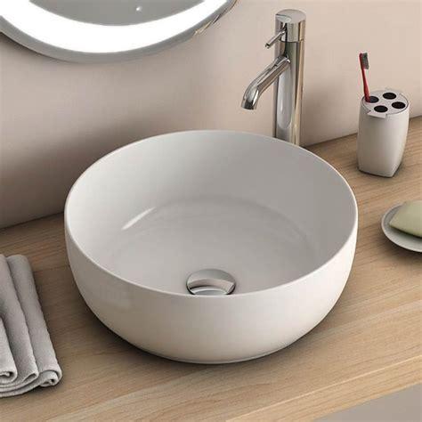 salle de bain ronde vasque 224 poser ronde blanche 38 5 cm c 233 ramique