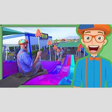 Blippi At An Amusement Park  Learning Colors At The Carnival Youtube