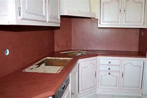 Beton Pour Plan De Travail : cr dence et plan de travail de cuisine en b ton cir ~ Premium-room.com Idées de Décoration