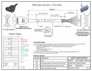Pinout Table Hdmi Cable Instructions