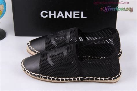 replica designer shoes chanl cc logo mesh and leather espadrille casual shoes