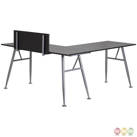 l shaped desk under 200 black laminate l shape computer desk with silver frame finish