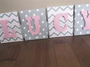 wall canvas letters nursery decor nursery letters With personalized wall letters for nursery